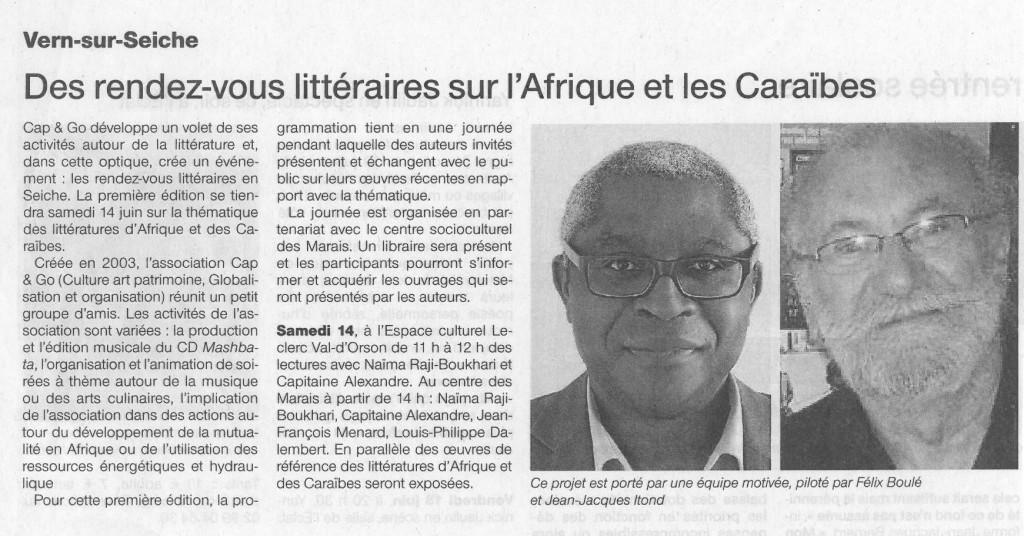 Ouest-France du 13 juin 2014